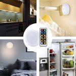 Padcod Armoire Lumières sans Fil Télécommande Puck Lampe à Batterie pour Armoires Cuisine Chambre Escalier Couloir de la marque Padcod image 1 produit