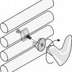 Paire Handy VIP–Porte-serviette–Ne trous plus les carrelage et ne pas utiliser la colle parce que se fixant directement sur le ton–Radiateur sèche-serviettes chromé de la marque Linea Handy image 2 produit
