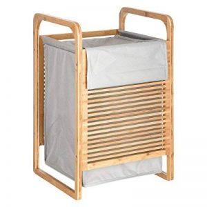 Panier à linge bambou - 40 x 35 x 60,5 cm - Bambou de la marque 5five image 0 produit