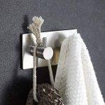 Patère à 2 Crochets, Aikzik® Lavabo Salle de Bain Maison, en Acier Inox, Porte-Vêtements Porte-Serviettes Avec 3M Scotch Adhésif Pour Serviette, Vêtement, Chapeau, Commode et Élégant, Famille et Bureau, Auto-Adhesif de la marque Aikzik image 4 produit