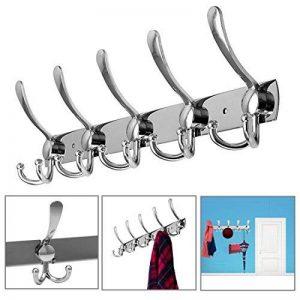 Patères Porte Manteaux En Acier Inoxydable PLUIESOLEIL Pour Porte-manteau/Serviettes/Chapeau (5 Crochets) de la marque PluieSoleil image 0 produit