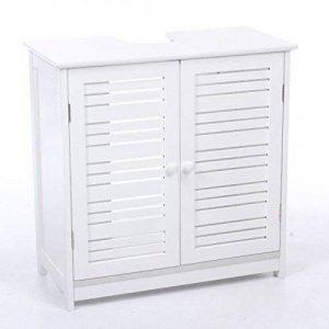 PEGANE Meuble sous lavabo 2 Portes en Blanc, H60 x P30 x L60 cm de la marque PEGANE image 0 produit