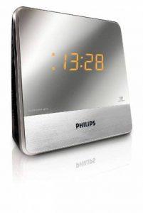 Philips AJ3231 Radio réveil avec tuner FM, double alarme, luminosité réglable, batterie de secours, configuration facile, Argent de la marque Philips image 0 produit