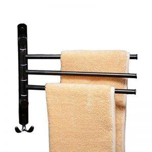 pivotant Porte-serviettes de bain en acier inoxydable de support de Porte-serviettes mural avec 3barres de pivotant, Swing Porte-serviettes, Noir Xy98100–3B de la marque XINYU image 0 produit