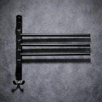 pivotant Porte-serviettes de bain en acier inoxydable de support de Porte-serviettes mural avec 3barres de pivotant, Swing Porte-serviettes, Noir Xy98100–3B de la marque XINYU image 2 produit