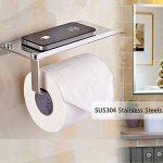 Porte-Papier en Inox de Salle de Bain Support de Rouleau de Serviette Toilette de la marque Sweton image 3 produit
