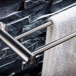 Porte-Serviettes 304 porte-serviettes en acier inoxydable, porte-serviettes de bain, barre de serviette double, supports de salle de bains Porte-serviettes en acier inoxydable (taille : 70cm) de la marque YXMJG image 3 produit