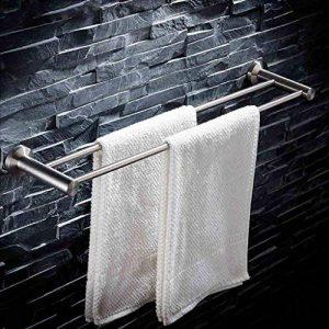 Porte-Serviettes 304 porte-serviettes en acier inoxydable, porte-serviettes de bain, barre de serviette double, supports de salle de bains Porte-serviettes en acier inoxydable (taille : 70cm) de la marque YXMJG image 0 produit