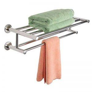 Porte-serviettes murale barre porte-serviettes en acier inoxydable étagère murale étagère support porte-serviette de la marque FDS image 0 produit