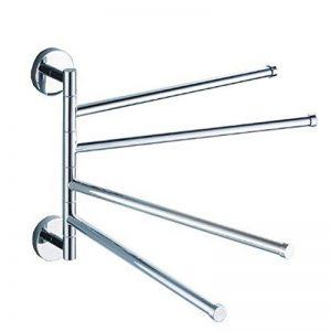 Porte-serviettes , Sèche-serviettes en Pivotant Acier Inoxydable avec 4 Barres Rotatives de la marque VABNEER image 0 produit