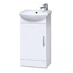 Premier Homebathroom NVS100400mm Haute Brillance Mayford Compact Armoire de salle de bain et lavabo–Blanc de la marque Premier image 0 produit