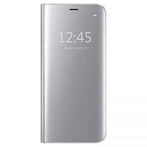Qissy Coque Etui Housse pour Samsung Galaxy S6 Miroir Cas Flip Cover Clear View Protection étui Housse Téléphone Portable Coque Samsung Galaxy S6 Smartphone de la marque Qissy image 0 produit