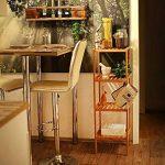 Relaxdays 10013497 Étagère 4 niveaux en bois naturel Rangement HxlxP : 110 x 33 x 33 cm Salle de bain cuisine en Bambou meuble colonne sur pied 4 niveaux couloir cave jardin, nature de la marque Relaxdays image 2 produit