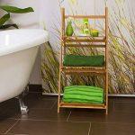 Relaxdays 10018983 Étagère echelle escalier en Bambou 3 Étages Pliable Salle de Bain Salon Rangement Bois HxlxP 100 x 45 x 33 cm, Nature de la marque Relaxdays image 1 produit