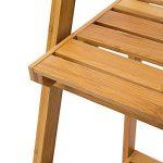 Relaxdays 10018983 Étagère echelle escalier en Bambou 3 Étages Pliable Salle de Bain Salon Rangement Bois HxlxP 100 x 45 x 33 cm, Nature de la marque Relaxdays image 4 produit