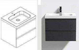 Revital Salle de Bain Blanc Ensemble de Meubles lavabo Blanc, Largeur 60cm R BF-PW V600 de la marque Revital image 0 produit