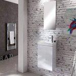 SAM Meuble lavabo DE 40 cm, Meuble Salle de Bains en Blanc, Surface Brillante, Lave Mains, Plan Vasque Meuble sous-Vasque de la marque SAM image 1 produit