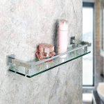 Sayayo Étagère de salle de bain en verre avec tablette murale, 20 pouces, fini chrome, EGC2000 de la marque SAYAYO image 1 produit