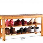 Seelux Étagère à chaussures en Bambou, 2 niveaux, siège pour chausser 90x45x28cm de la marque Seelux image 1 produit