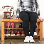 Seelux Étagère à chaussures en Bambou, 2 niveaux, siège pour chausser 90x45x28cm de la marque Seelux image 3 produit