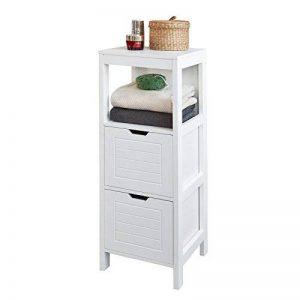 SoBuy FRG127-W Meuble Colonne Meuble Bas de Salle de Bain Armoire Toilette – 1 étage 2 tiroirs de la marque SoBuy image 0 produit