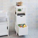 SoBuy FRG127-W Meuble Colonne Meuble Bas de Salle de Bain Armoire Toilette – 1 étage 2 tiroirs de la marque SoBuy image 1 produit
