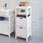 SoBuy FRG127-W Meuble Colonne Meuble Bas de Salle de Bain Armoire Toilette – 1 étage 2 tiroirs de la marque SoBuy image 2 produit
