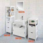 SoBuy FRG127-W Meuble Colonne Meuble Bas de Salle de Bain Armoire Toilette – 1 étage 2 tiroirs de la marque SoBuy image 3 produit
