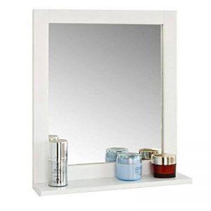 SoBuy FRG129-W Miroir Mural Meuble Salle de Bain 1 étage Plateau L40xP10xH49cm- Blanc de la marque SoBuy image 0 produit