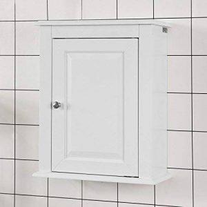 SoBuy FRG203-W Meuble Haut de Salle de Bain - 1 Porte Placard Commode Meuble de Rangement Mural Armoire Suspendue de la marque SoBuy image 0 produit