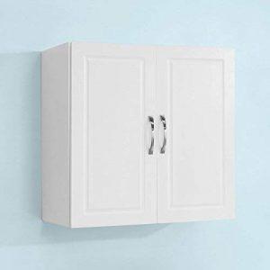 SoBuy FRG231-W Meuble Haut Armoire de Toilettes Salle de Bain Suspendue Placard Commode Murale – 2 Portes - Blanc de la marque SoBuy image 0 produit
