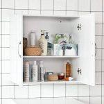 SoBuy FRG231-W Meuble Haut Armoire de Toilettes Salle de Bain Suspendue Placard Commode Murale – 2 Portes - Blanc de la marque SoBuy image 2 produit