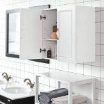 SoBuy FRG231-W Meuble Haut Armoire de Toilettes Salle de Bain Suspendue Placard Commode Murale – 2 Portes - Blanc de la marque SoBuy image 3 produit