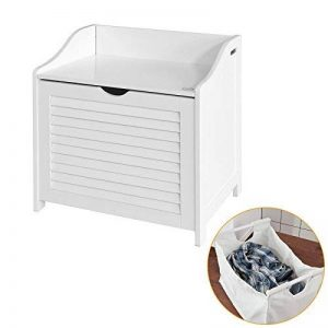 SoBuy® FSR40-W Banc de rangement Panier à linge avec sac amovible - Charge maximum: 90kg de la marque SoBuy image 0 produit