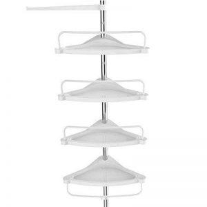Songmics 120-300 cm Etagère d'angle télescopique salle de bains avec 4 tablettes et crochets BCB002 de la marque Songmics image 0 produit