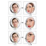 SONGMICS Double Face Miroir Mural Miroirs de Maquillage Miroir cosmétique 10 Fois grossissement BBM001 de la marque SONGMICS image 4 produit