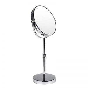 SONGMICS Miroir de Maquillage Miroirs Miroir cosmétique de Table Rasage Double Face sur Pied Mobile Hauteur réglable 10 Fois grossissement BBM008 de la marque Songmics image 0 produit