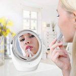 Spaire Miroir Maquillage Double Face LED Miroir Grossissant avec Rotation 360 Degrés pour Cosmétique et Soin de Peau ( avec Batterie ) (5X) de la marque Spaire image 1 produit