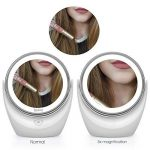 Spaire Miroir Maquillage Double Face LED Miroir Grossissant avec Rotation 360 Degrés pour Cosmétique et Soin de Peau ( avec Batterie ) (5X) de la marque Spaire image 3 produit