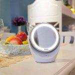 Spaire Miroir Maquillage Double Face LED Miroir Grossissant avec Rotation 360 Degrés pour Cosmétique et Soin de Peau ( avec Batterie ) (5X) de la marque Spaire image 4 produit