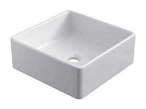 Starbath - Vasque à poser en céramique SIBI. Lavabo forme carre pour salle de bain. de la marque Starbath image 0 produit