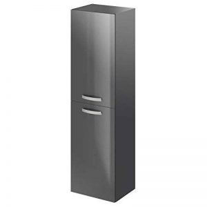 STELLA Colonne de salle de bain L 40 cm - Laque gris brillant de la marque Aucune image 0 produit