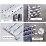 Tabaling Porte-serviettes Mural en Espace Aluminium avec 4 Barres 180°Rotatives Sèche-Serviettes pour salle de Bain Cuisine Lavabo 33 x 33 CM avec Crochet (4 coups) de la marque Tabaling image 3 produit