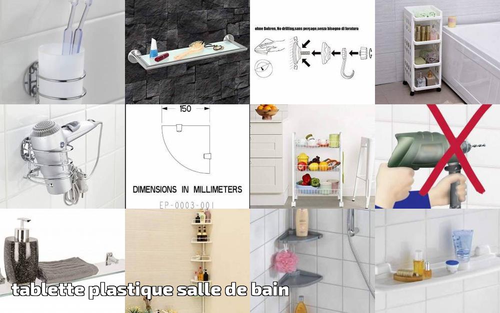 Tablette plastique salle de bain faire des affaires pour ...