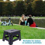 Tabouret pliable Plastique De Façon Panier Poids jusqu'à 150kg, 30*22*23cm de la marque Heim & Elda image 3 produit