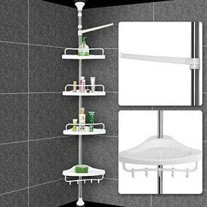 Étagère télescopique d'angle de douche - Hauteur max. 304cm - Avec porte-serviette - Savon bain douche de la marque Deuba image 0 produit