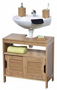 TENDANCE - 9900195 - Meuble Dessous de lavabo ou Evier - 2 Portes + 1 étagère + 1 Niche - Style Exotique - en Bambou de la marque TENDANCE image 0 produit