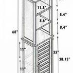 TENDANCE Meuble Colonne de Salle de Bain - 3 niches et 1 Porte - Aspect Chêne Vieilli de la marque image 1 produit