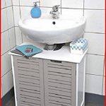 TENDANCE Meuble Dessous de lavabo ou Evier - 2 Portes et 1 étagère - Esprit Charme de la marque TENDANCE image 4 produit