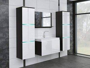 tendencio Salle de Bain complète Aquila LED Noir Blanc laqué de la marque tendencio image 0 produit
